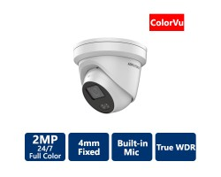 2 MP ColorVu Turret IP Camera, 4mm