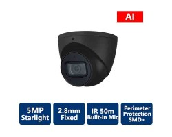 5MP AI IP Starlight Turret Camera, Black
