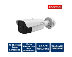 Hikvision AI Fever Screening Thermal Bullet IP Camera