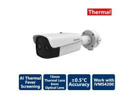 Hikvision AI Fever Screening Thermal Bullet IP Camera 384x288