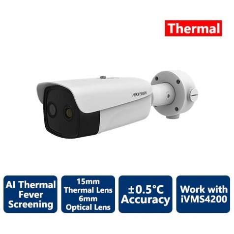 Hikvision AI Fever Screening Thermal Bullet IP Camera 384x288