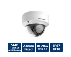 Hikvision 5MP TurboHD Outdoor Dome Camera