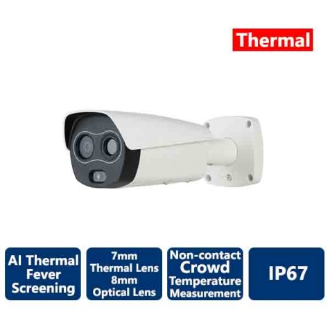 AiBase AI Thermal Non-Contact Fever Screening IP Bullet Camera