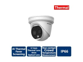 Hikvision AI Fever Screening Thermal Turet IP Camera 160x120