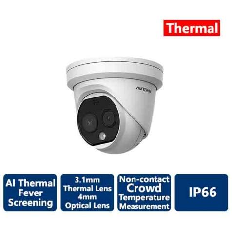 Hikvision AI Fever Screening Thermal Turet IP Camera 160x120