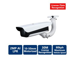 2MP IP AI License Plate Recognition Camera, Motorized