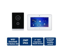 IP Villa Wi-Fi Door Station & Wi-Fi Indoor Monitor Kit