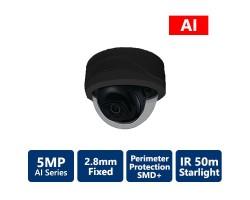 5MP AI IR IP Starlight Fixed, Vandal Dome Camera