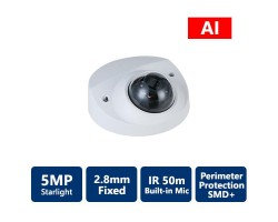 5MP AI Series Starlight IP IR Fixed, Mini Vandal Dome Camera