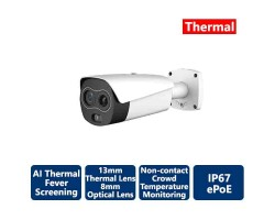 AiBase 300 x 400 Thermal Hybrid Thermal 2MP Network Bullet Camera