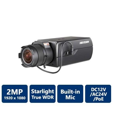 Hikvision DS-2CD6026FHWD-A 2 Megapixel Ultra Low-Light Network Box Camera, No Lens