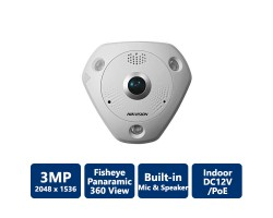 Hikvision DS-2CD6332FWD-I 3MP WDR Fisheye Network Camera, Indoor