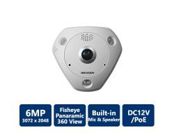 Hikvision DS-2CD6362F-I 6MP Fisheye Network Camera, Indoor