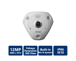 HIKVISION IP CAMERA DS-2CD63C2F-IV 12MP FISHEYE IP CAMERA