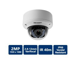 Hikvision DS-2CE56D1T-AVPIR3 HD1080P Vandal Proof IR Dome Camera