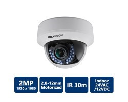 Hikvision DS-2CE56D5T-AIRZ Turbo HD1080P Indoor Motorized Vari-focal IR Dome Camera