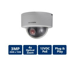 Hikvision DS-2DE3304W-DE 3MP DWDR Network P&P Mini PTZ Dome Camera POE IP66 Outside 4X