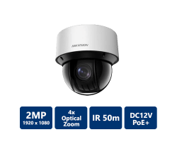 Hikvision 2MP Network IR 4x PTZ Camera, 2.8-12mm