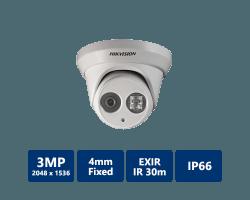 Hikvision DS-2CD2332-I EXIR Turret Network Camera, 4mm