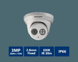 Hikvision DS-2CD2332-I EXIR Turret Network Camera, 2.8mm