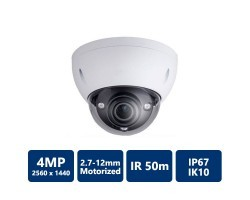 4MP WDR IR Dome, 2.7-12mm (M)