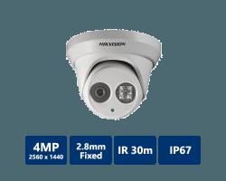 Hikvision DS-2CD2342WD-I 4 Megapixel Outdoor EXIR Network Turret Dome