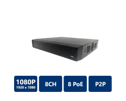 8 Channel Compact 1U 8PoE Lite Network Video Recorder