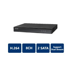 Hikvision DS-6708HQHI-SATA Video Server, 8-Channel, H.264, Dual Stream