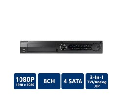 Hikvision DS-7308HQHI-SH 8 Channel, Tribrid DVR, H.264, No HDD