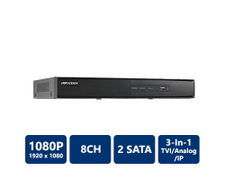 Hikvision DS-7208HGHI-SH Tribrid DVR, 8 Channel, H.264, No HDD
