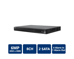 Hikvision DS-7608NI-E2/8P 8 Channel NVR with 8-Port PoE, No HDD