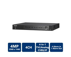 4 Channel H.265 Hikvision 3MP TurboHD Digital Video Recorder