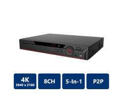 8 Channel Penta-Brid 4K Compact 1U Digital Video Recorder