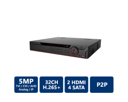32CH Penta-Brid 5MP 1.5U Digital Video Recorder