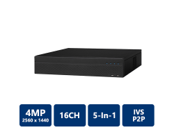 DMSS Series 16 Channel Penta-Brid 4MP 2U DVR