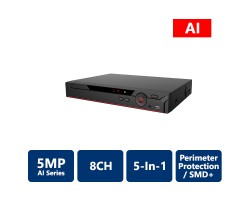 8 Channel Penta-brid 5MP Mini 1U Digital Video Recorder