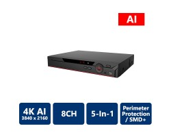 8 Channel Penta-brid 4K Mini 1U AI Digital Video Recorder