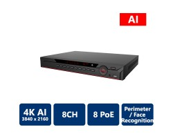 8 Channel 1U 8PoE AI Network Video Recorder