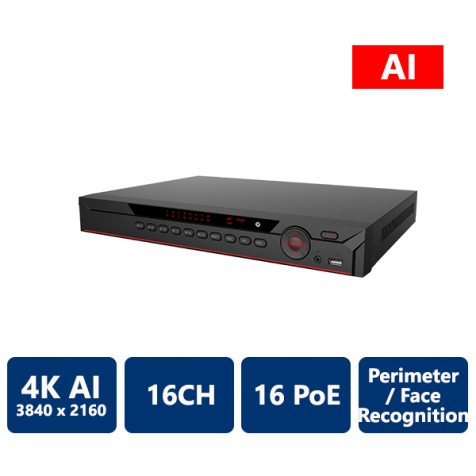 16 Channel 1U 16 PoE AI NVR (Network Video Recorder)