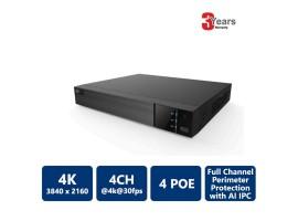 4 Channels 4 PoE 4K EyeOnet NVR