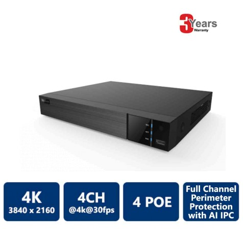 4 Channels 4 PoE 4K EyeOnet NVR