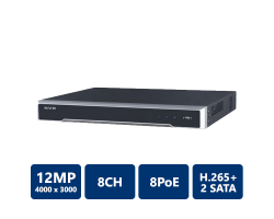 Hikvision 4K 8CH 8PoE Embedded Plug & Play NVR