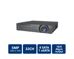 32CH 5MP 2U H.264 Network Video Recorder
