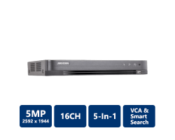 Hikvision 5MP All-In-1 H.265+ TurboHD DVR, 16CH