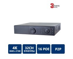 EYEONET NVR-63832-16P 32CH 16PoE 4K Real Time NVR