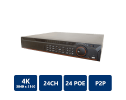 24Channel 1.5U 24PoE 4K&H.265 Pro Network Video Recorder